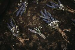Lavender buttonholes