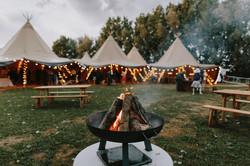 Campfire at wedding
