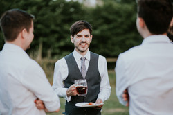 Groom with beer