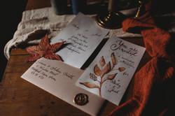 Autumnal wedding stationary