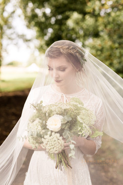 Veil covered bride