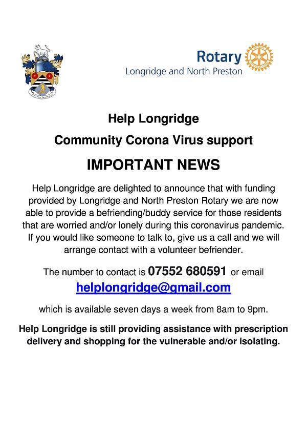 Poster Help Longridge Buddy Service-page