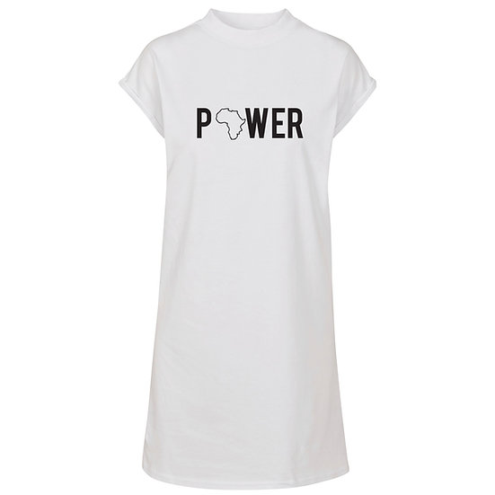 Power T-Dress (White)