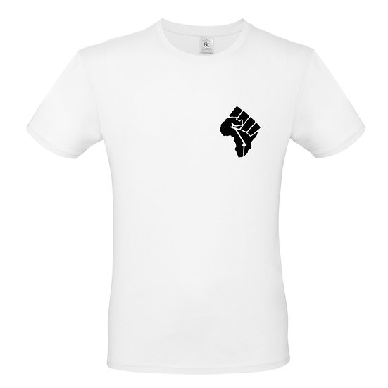 Adult Africa Fist T-Shirt (White)