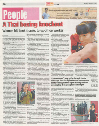 A Thai boxing knockout Women hit back thanks to ex-office worker