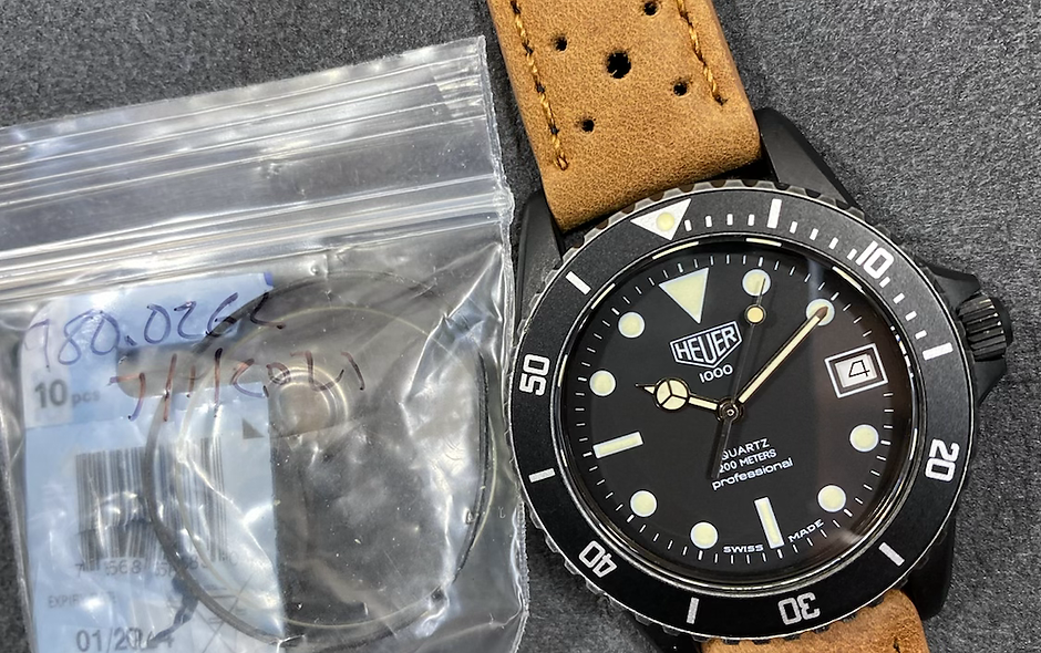 👍 TAG HEUER 1000 980.026 PVD DLC Submariner Style Dive Watch