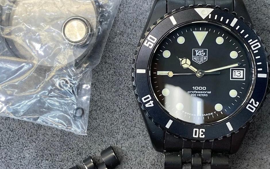 Vintage Tag Heuer 980.026 Black Coral 2 - PVD
