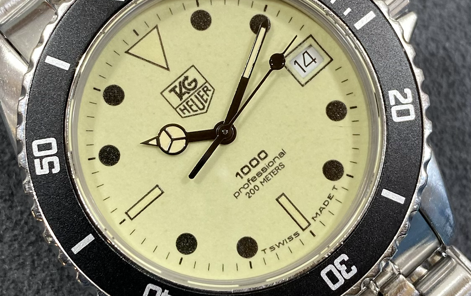👍 Vintage TAG HEUER Professional 980.113 Full Lume Dial Submariner Diver Watch