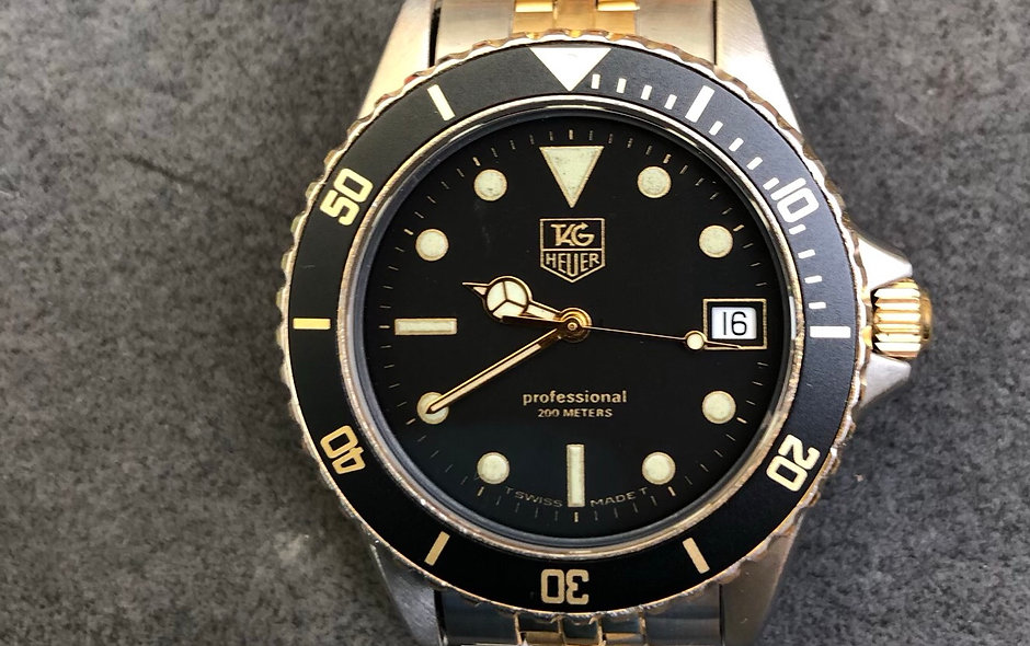 """Bezel insert for Tag Heuer 984.013 """"Wolf of Wall Street"""", 980.020, 980.029"""
