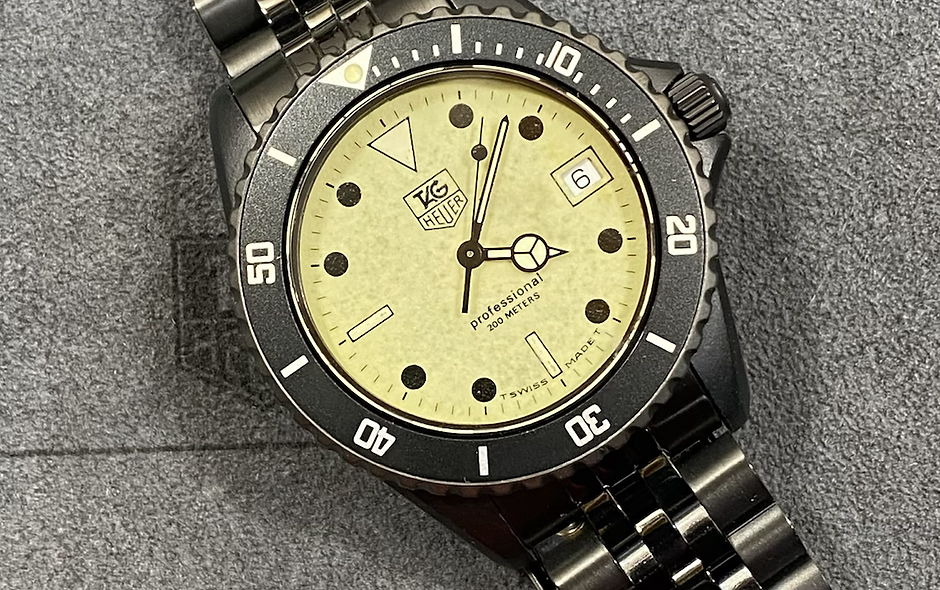 😎 TAG HEUER 1000 980.031 Lume Dial Submariner James Bond Diver Style Watch