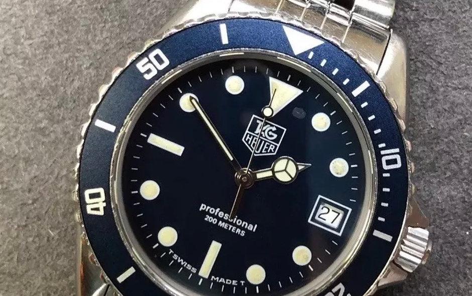 Tag Heuer 1000 Bezel Insert: 980.613 Matte Blue Watch Replacement Part