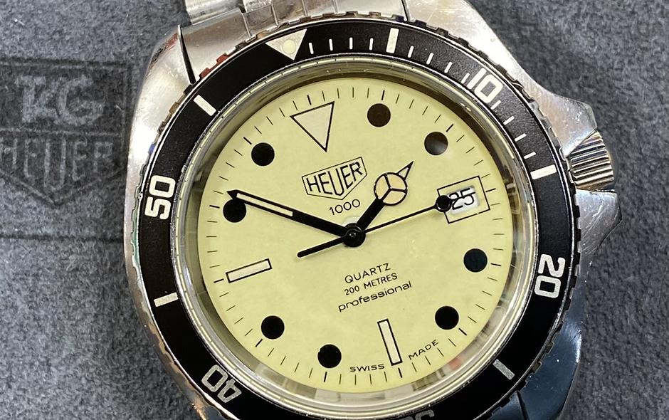 👍 Vintage TAG HEUER 1000 980.032 Jumbo Lume Submariner 844 Style Dive Watch
