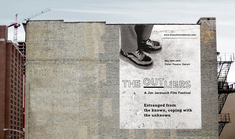 The Outliers Film Festival outdoor poster