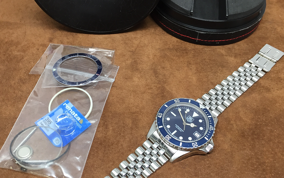 Serviced TAG HEUER MENS 1000 SUBMARINER DIVER