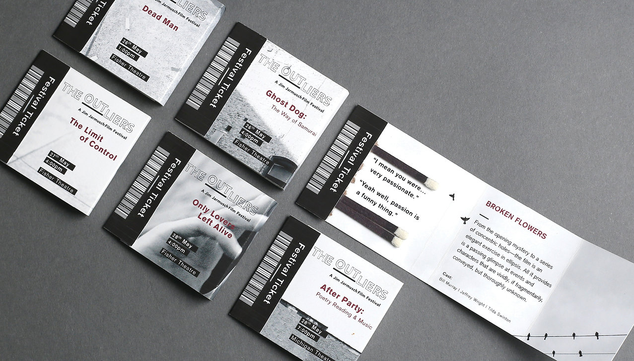 The Outliers Film Festival Tickets Design