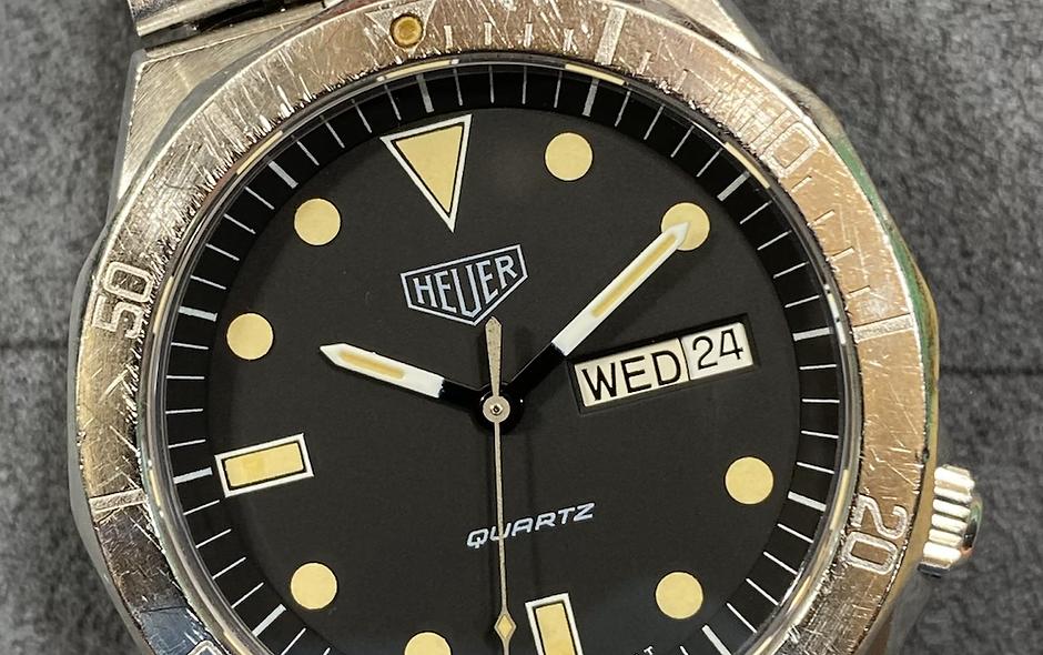 👍 Vintage TAG HEUER 1000 980.004 Jumbo Submariner 844 Style Dive Watch