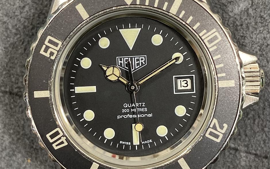 👍 Ladies Vintage TAG HEUER 1000 980.015 Black Submariner Style Dive Watch