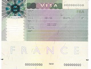 申根签证VISA上面的说明
