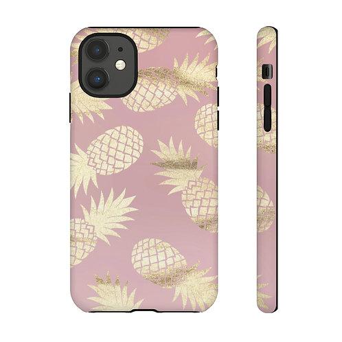 Blush + Gold Pineapple Designer Tough Case