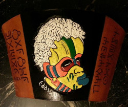 Graffiti art mask from Black Panther
