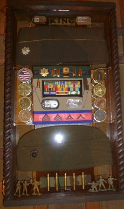 Officer and Enlisted Shadowbox