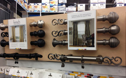 Rods and finials display board