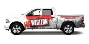 Western Dodge Ram Wrap