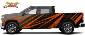 Orange and Black Wrap