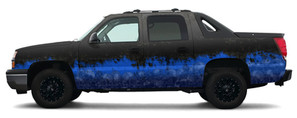Chevy Avalanche Blue Tear Design