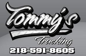 Tommy's Trucking logo Design