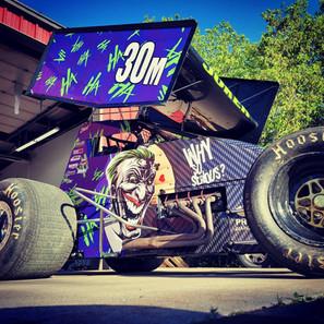 Joker Race Car Wrap
