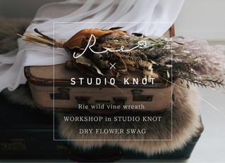 【Rie wild vine wreath - WORKSHOP in STUDIO KNOT - vol.1】DRY FLOWER SWAG