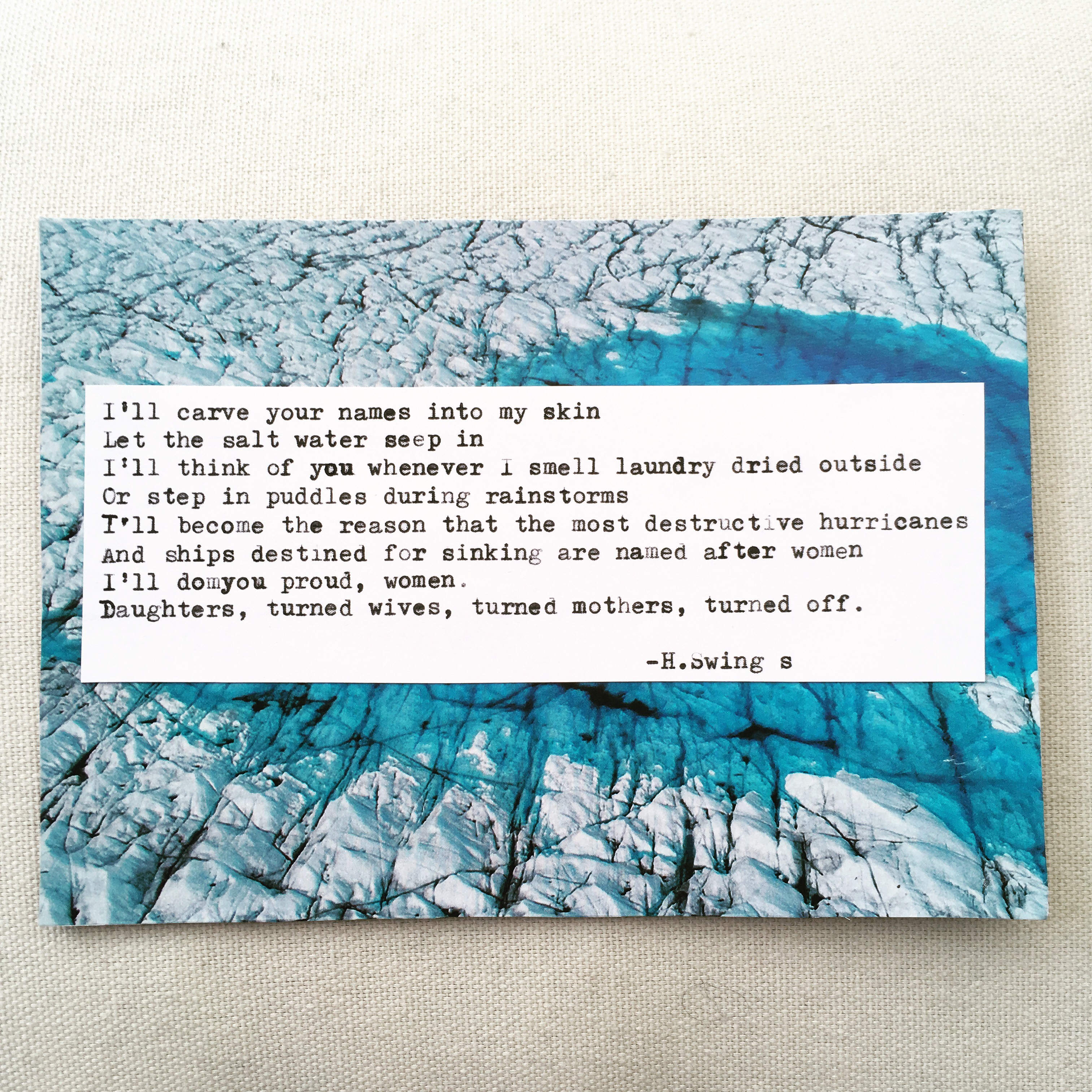 excerpt from 'Glaciers'