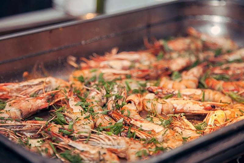 Garlic and scotch bonnet jumbo prawns