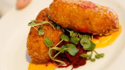 Tilapia and yam fishcakes