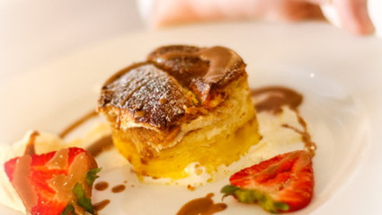 Ghanaian bread and groundnut butter pudding