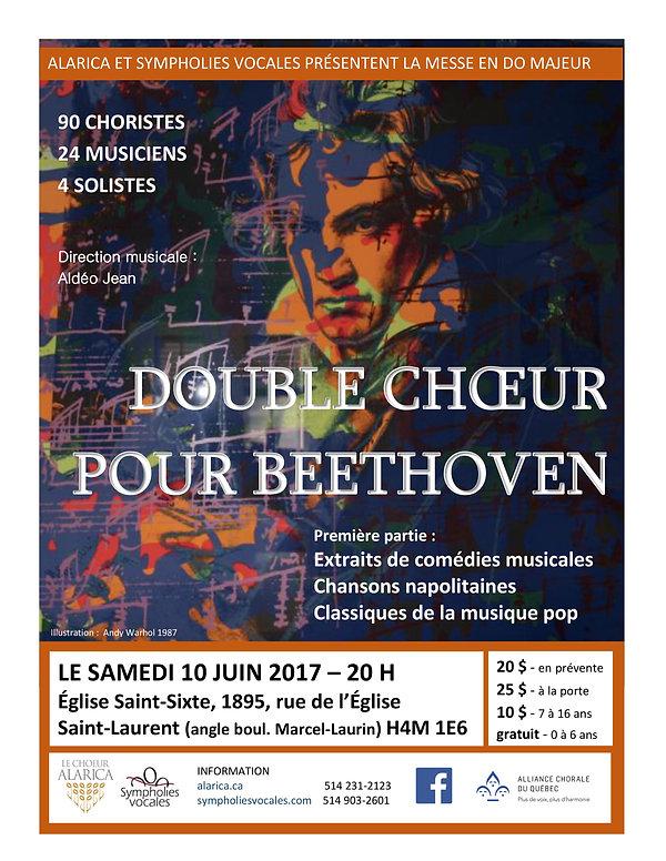 Affiche du concert Double choeur pour Beethoven