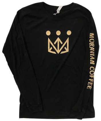 Black Moravian Long Sleeve Tee