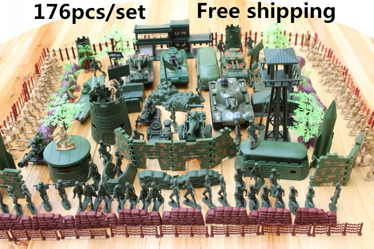 Spot-Military-bases-176pcs-set-Military-Plastic-font-b-Toy-b-font-Soldiers-font-b-special
