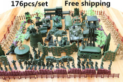 Spot-Military-bases-176pcs-set-Military-Plastic-font-b-Toy-b-font-Soldiers-font-b-special
