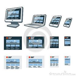 progettazione-rispondente-del-sito-web-sugli-apparecchi-elettronici-differenti-40185494