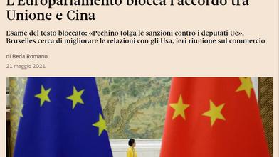 L'Europarlamento blocca l'accordo commerciale CAI tra EU e Cina, è stata una buona mossa?