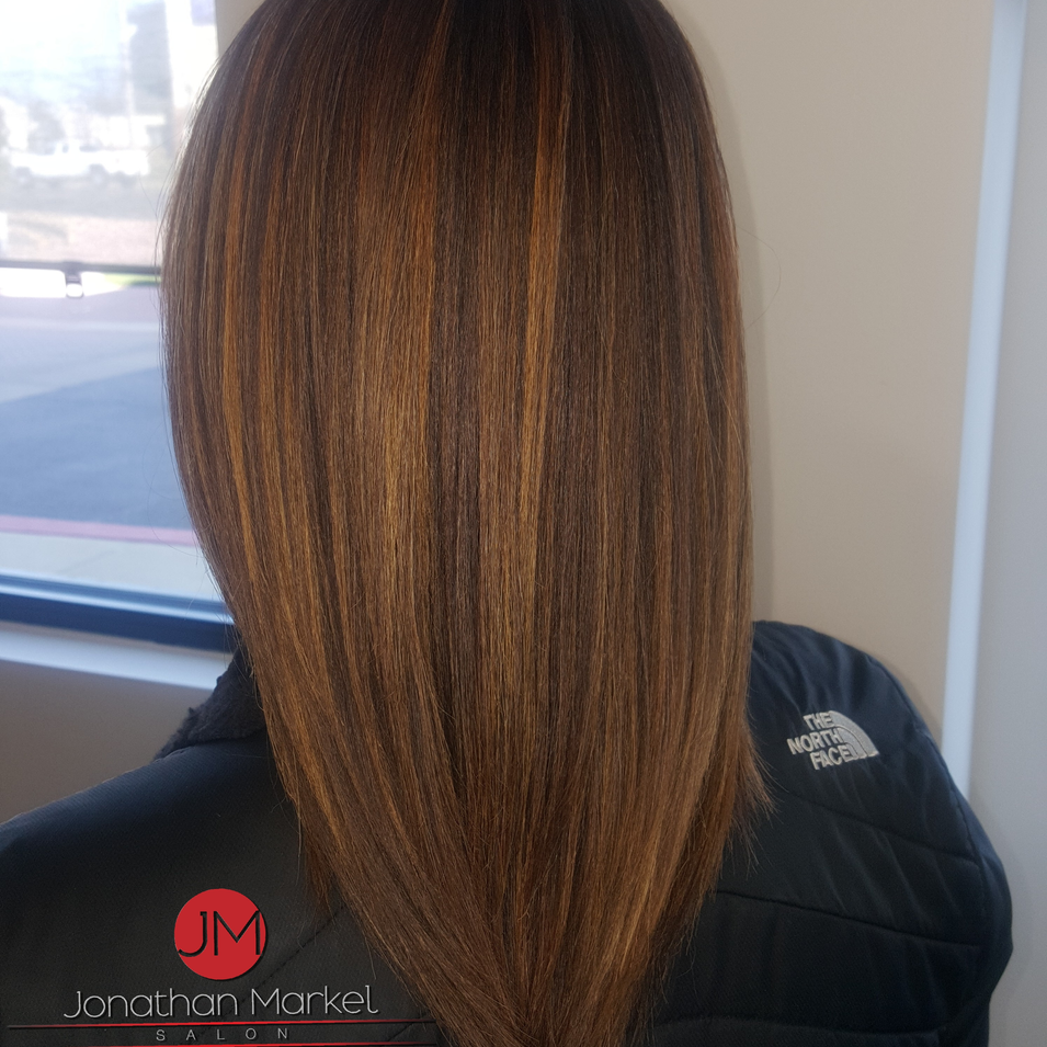 After 5 treatments, relaxer, color and hi-lites the same say