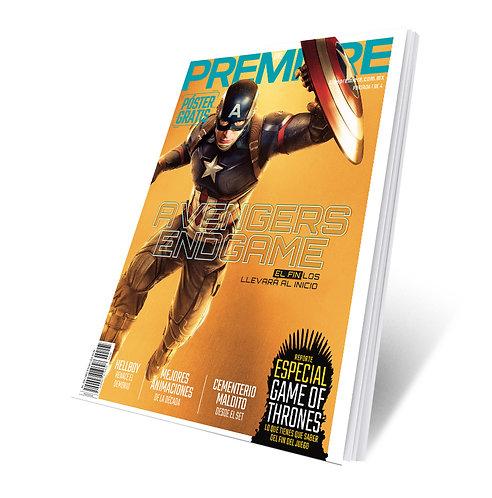 Revista Cine PREMIERE edición Abril 2019 Portada Variante Captain America