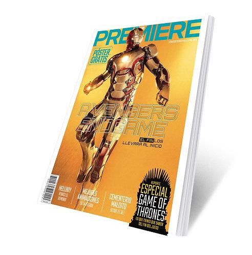 Revista Cine PREMIERE edición Abril 2019 Portada Variante Iron Man