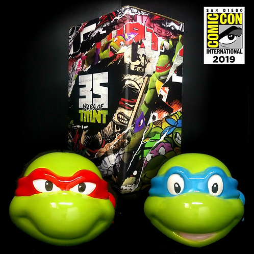 Leo and Raph Salt and Pepper Shakers 35 years of TMNT THINK GEEK SDCC 2019
