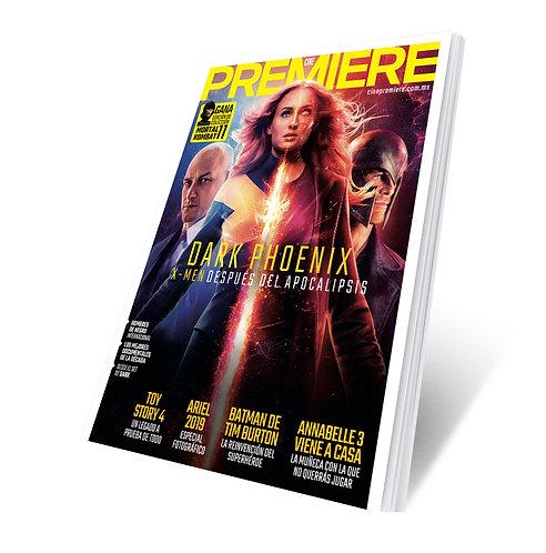 Revista Cine PREMIERE edición Junio 2019 Portada Variante X-Men