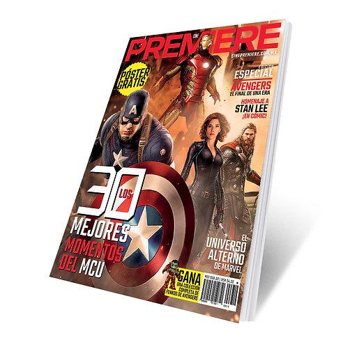 Revista Cine PREMIERE edición Especial Avengers 2019 Portada Variante 1