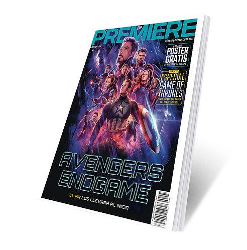 Revista Cine PREMIERE edición Abril 2019 Portada Variante Avengers