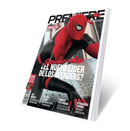 Revista Cine PREMIERE edición Julio 2019 Portada Variante Spider-man
